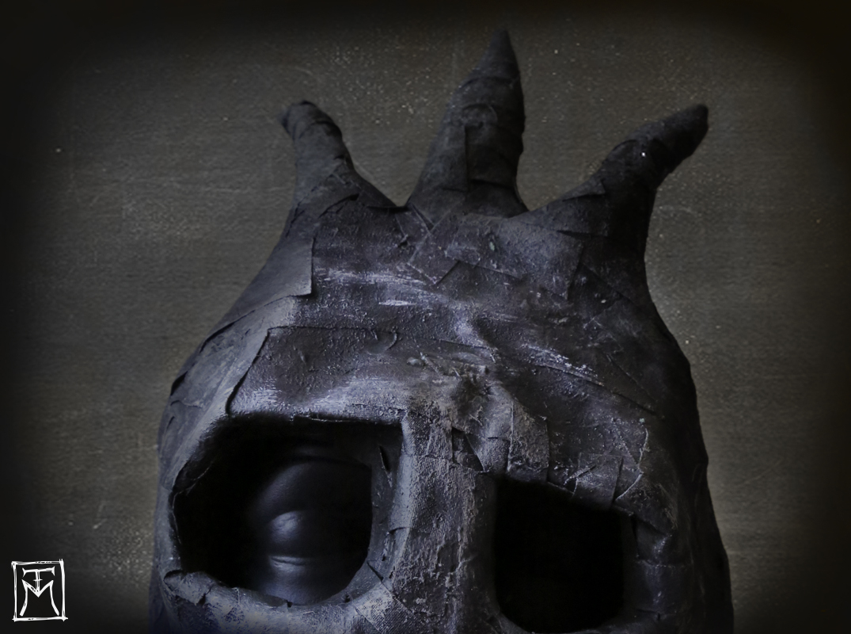 Horned Papier Mache Mask