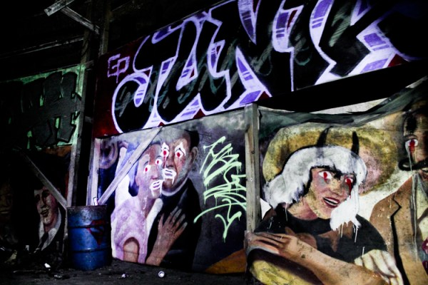 Painted Facade in the Tunnel of Terror