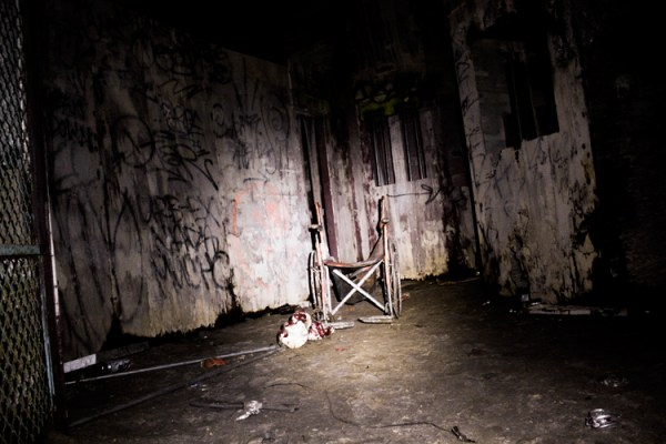 Empty Wheelchair in the Tunnel of Terror