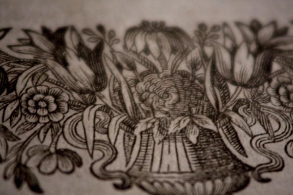Sermones Sacri - Macro Detail of Page Flourishes