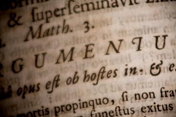 Sermones Sacri - Macro Detail of Antique Printed Text