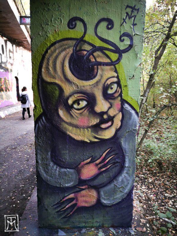 Tentacle Head Mural