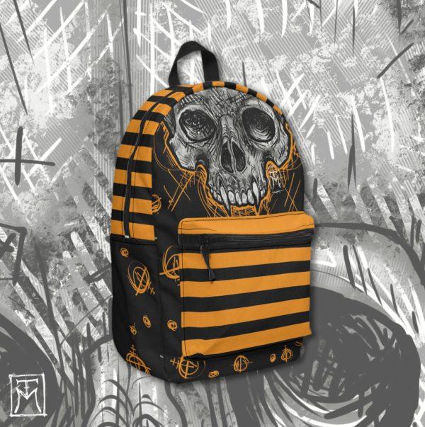Vampire Skull Backpack Mockup