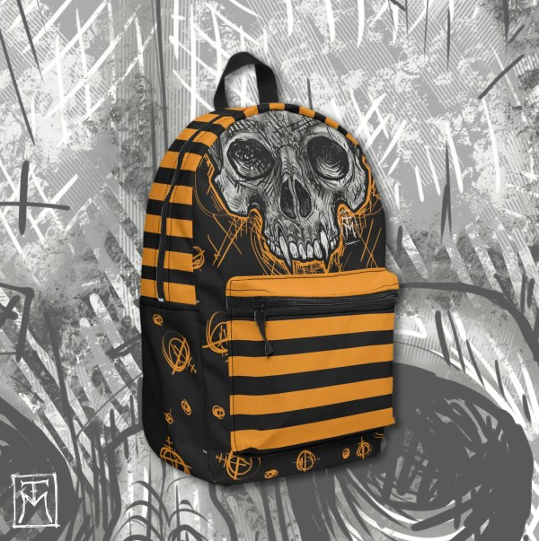 Vampire Skull Backpack Mockup