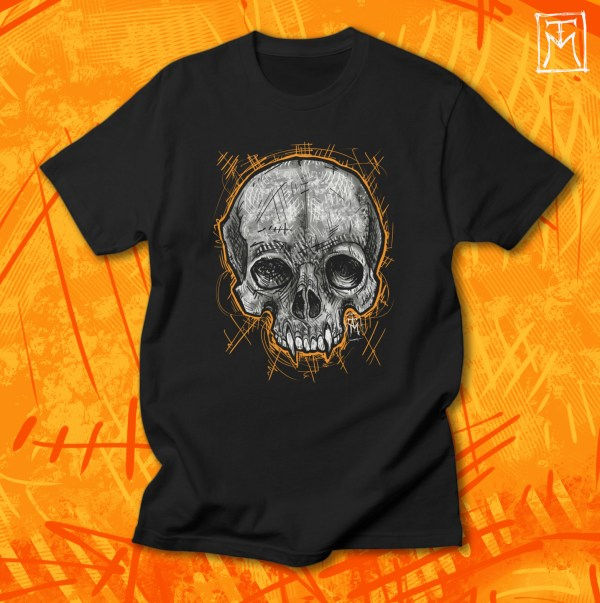 Vampire Skull Tshirt Illustration