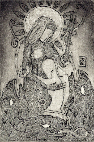 Priestess Etching