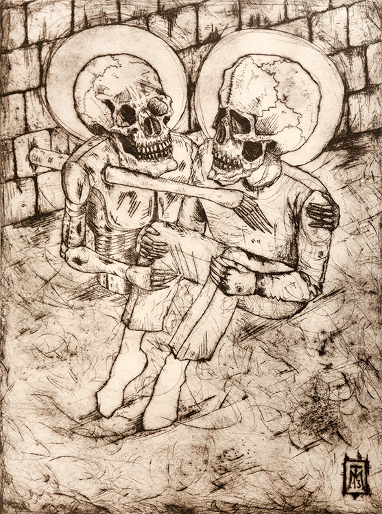 """""""The Comforter"""" Etching"""
