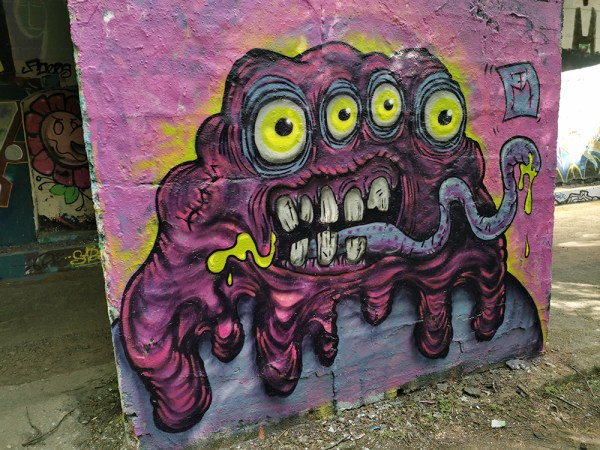 Slimy Drool Monster Mural