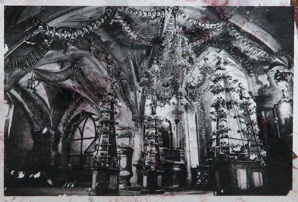 The Sedlec Ossuary in Kutna Hora, Czech Republic