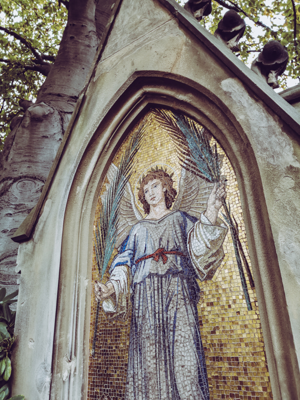 Beautiful Mosaic Angel Detail