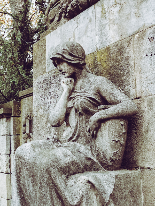Pensive Statue at Grunewald Cemetery