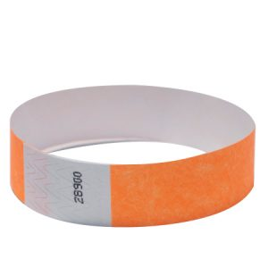 Customize an Orange Tyvek Wristband or choose from 16 other colors!