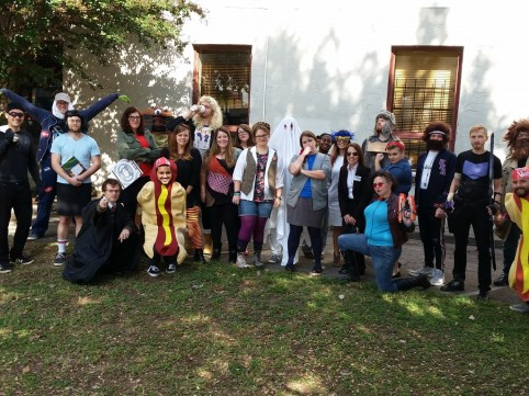 TA Staff on Halloween