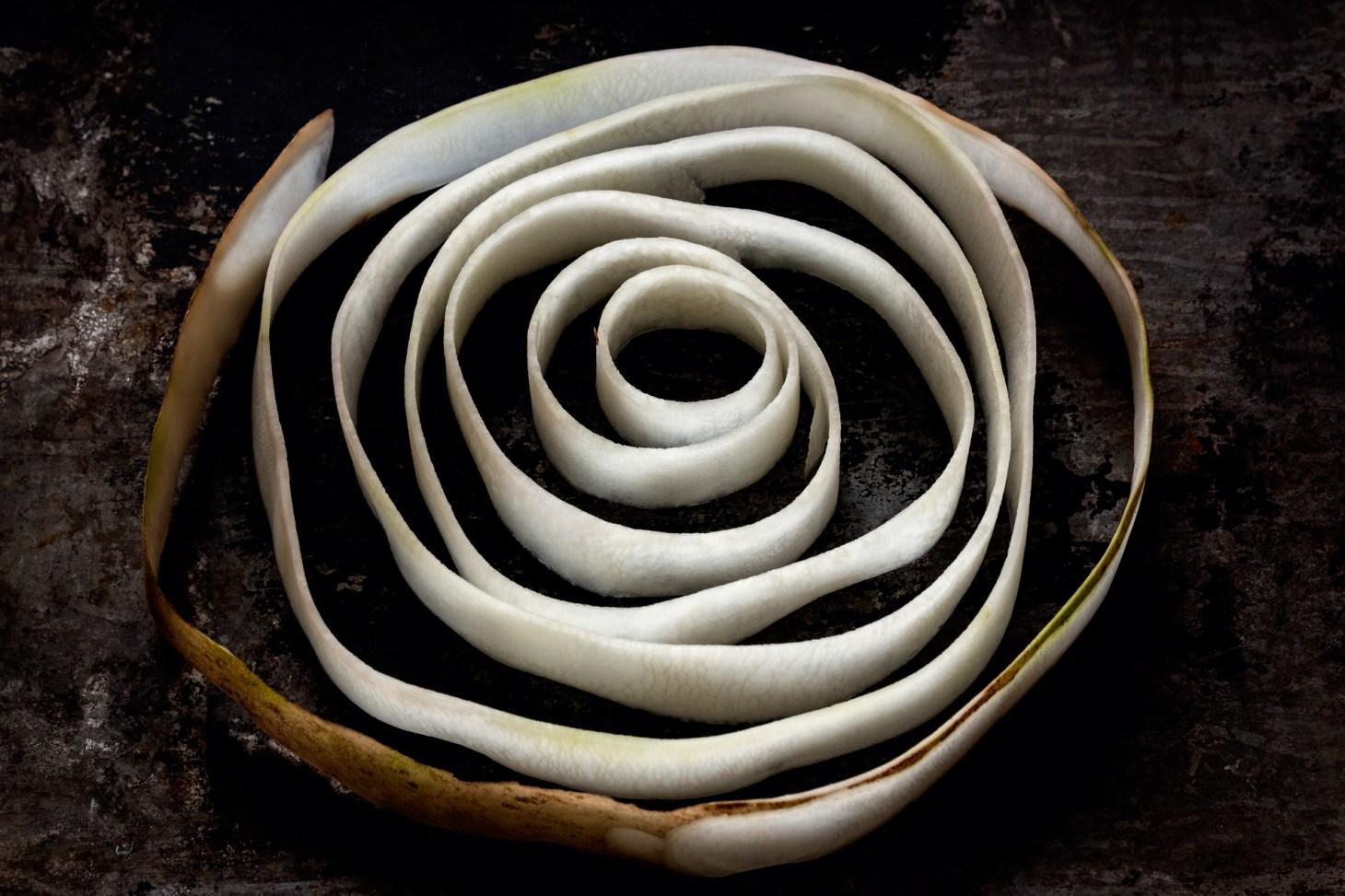 Spirale aus weisser Bete