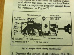 headlamp switch headlamp terminal no power | Classic Parts