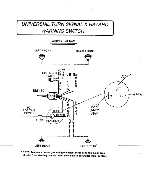 Golf Cart Turn Signal Wiring Diagram Factory Turn Signal Wiring Classic Parts Talk