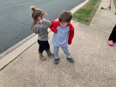 "Tuesday, March 17, 2020 – ""We taught the kids elbow bumps."" Bethesda, MD. John Hodge"