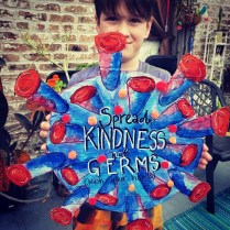 Tuesday, March 24, 2020 – Spread kindness, not germs. (Wash your hands.) New Orleans, LA. Heather Macfarlane