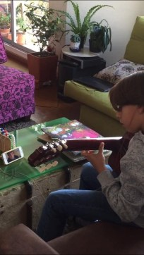 Tuesday, March 24, 2020 – Virtual guitar lessons. Bogota, Colombia. Ximena Pinzon