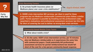 Does private insurance cover crisis care?
