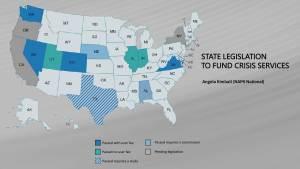 NAMI 988 and Crisis State Legislation Map
