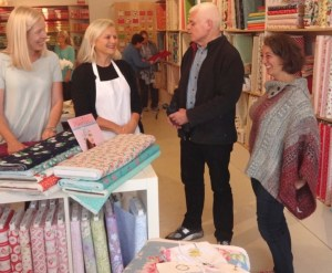 Daryl Aitken at her store Fabric Spark