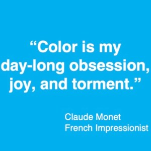 Colour quote Claude Monet