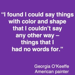 Colour quote Georgia O'keefe