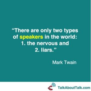 Mark Twain on nerves and how to present with confidence