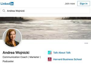 Andrea Wojnicki on LinkdIn