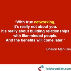 networking quote Sharon Mah-Gin