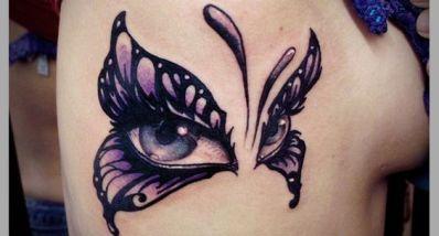 tattoo borboleta olho