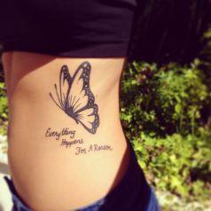 tattoo borboleta peb costela