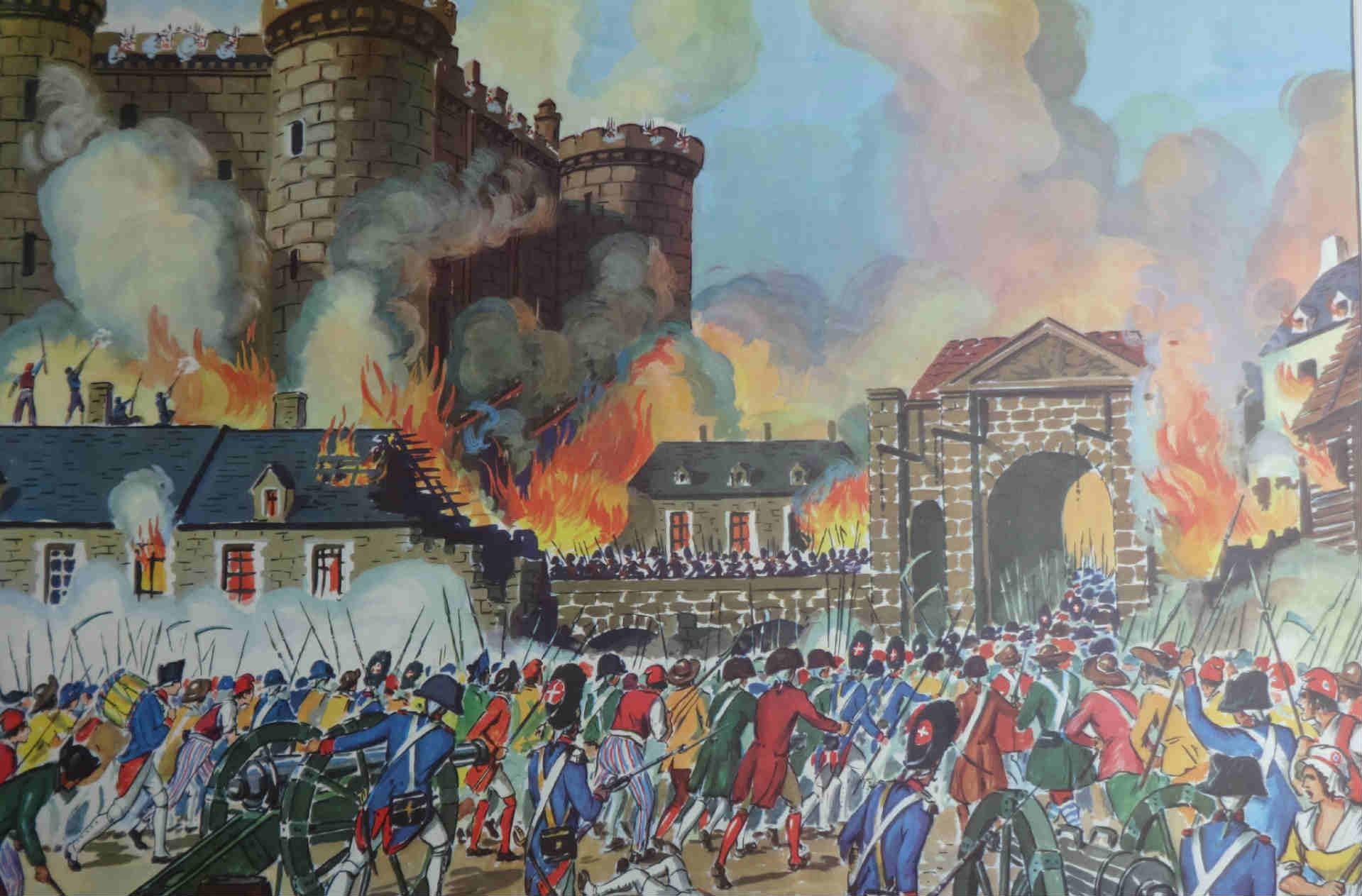 História da queda da Bastilha durante a Revolução Francesa