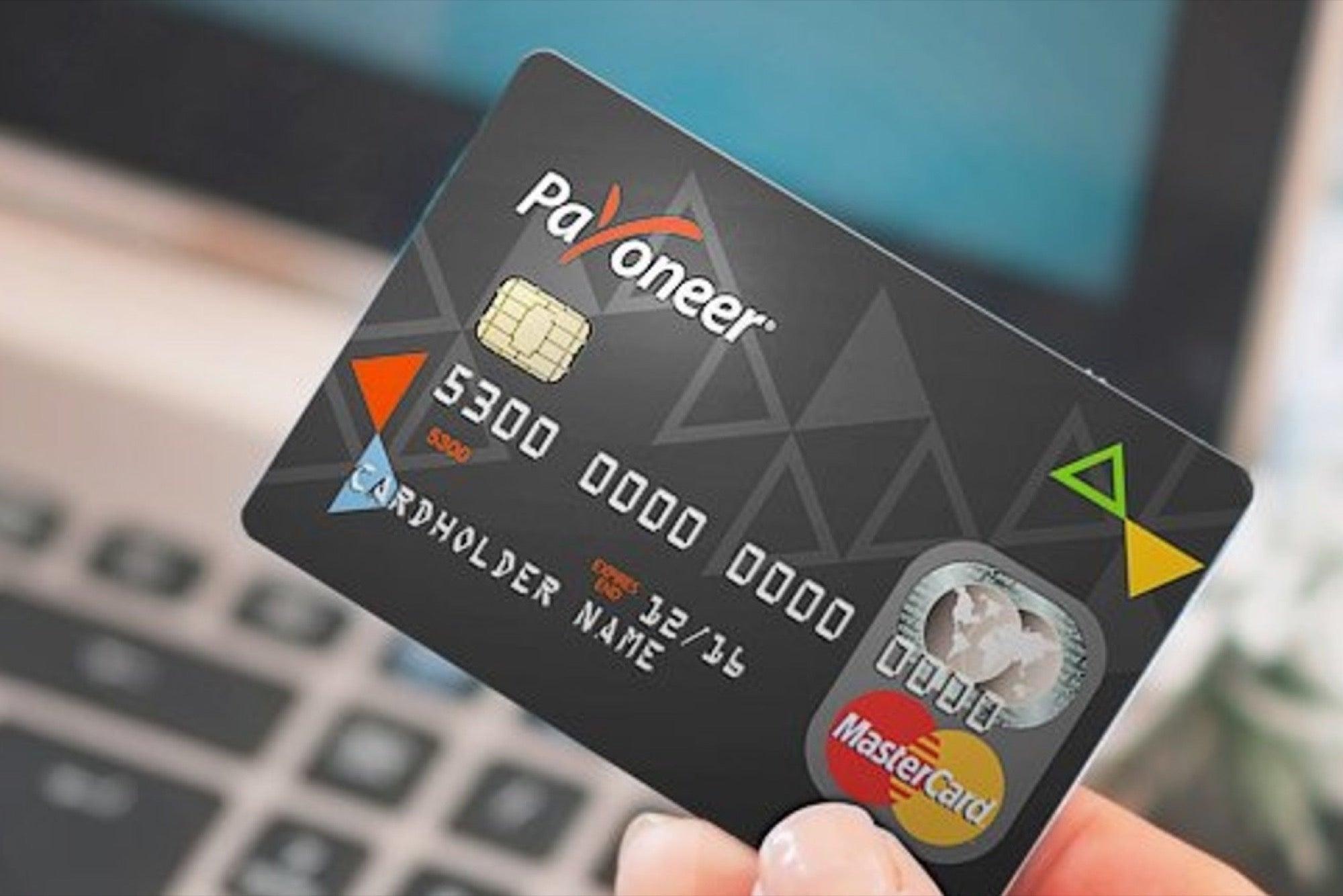 Cartão de crédito international da Payoneer