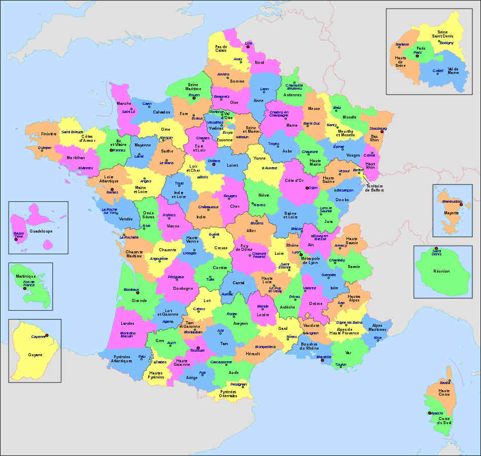 Les départements de France