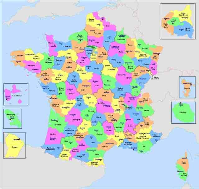 Les départements de France