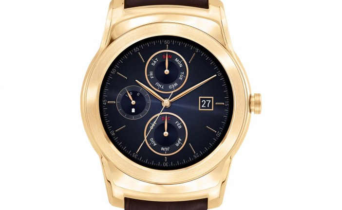 LG Watch Urbane Luxe – Limited Edition 23k Gold Heavy Plate and Alligator
