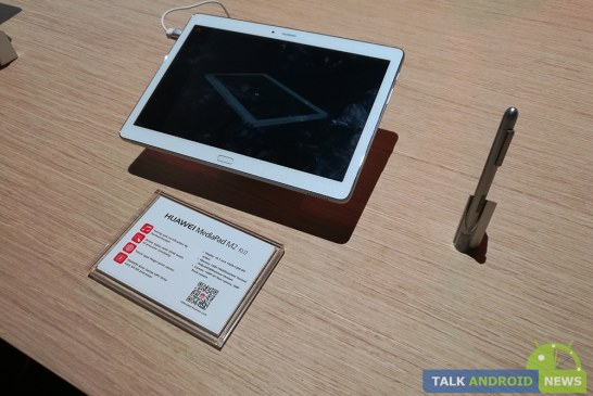 Huawei Shows Off the MediaPad M2 10 with Stylus