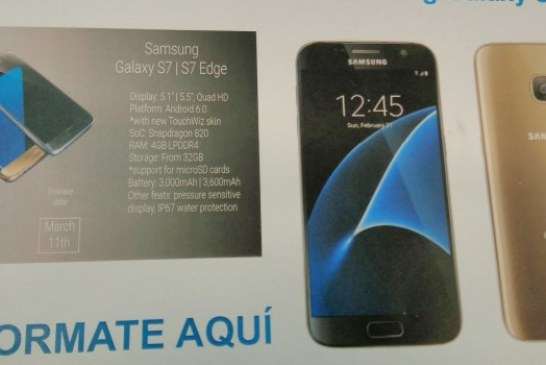 Official Samsung Brochure Leaks Details on Galaxy S7 and S7 Edge, Plus New Photos