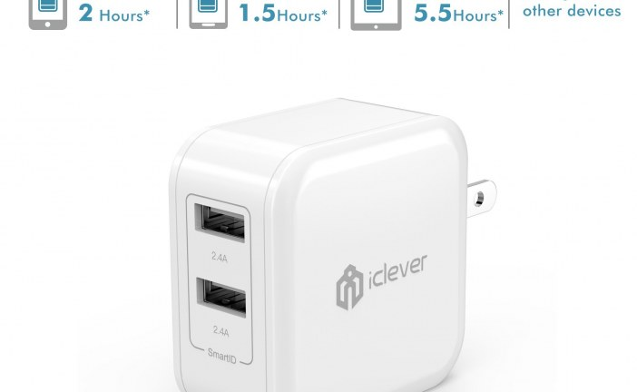 Deal Alert: iClever BoostCube 4.8A 24W Dual USB Travel Wall Charger for $7.99