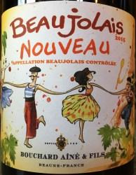 Bouchard Beaujolais Nouveau label front