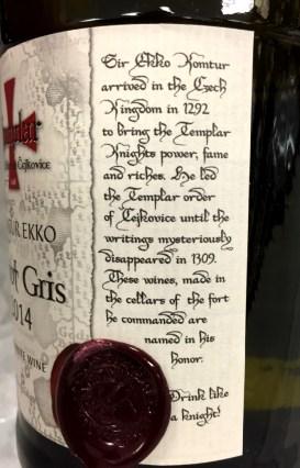 Templar Cellars Komtur Ekko Pinot Gris