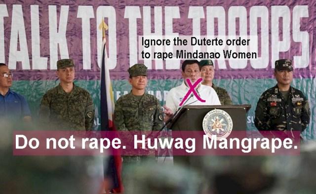 Don't Rape. Don't pillage. Don't Plunder