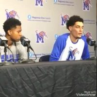 Post Game Press Conference with Tyler Harris & Isaiah Maurice