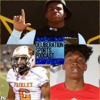 Deliberation Sports Podcast talks with Elite High School football recruits Walter nolan, Kody Jones, & Cameron Miller