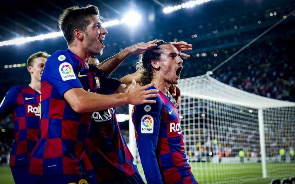 Griemann First Goal Celebration At Camp Nou - FC Barcelona vs Real Betis