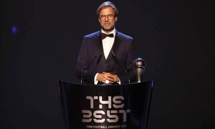 Fifa Player Of the Year Ceremony 2019 - Coach Of The Year - Jurgen Klopp