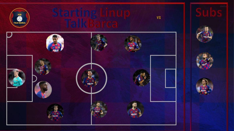Barcelona vs Dortmund Starting Lineup - Champions League 19/20
