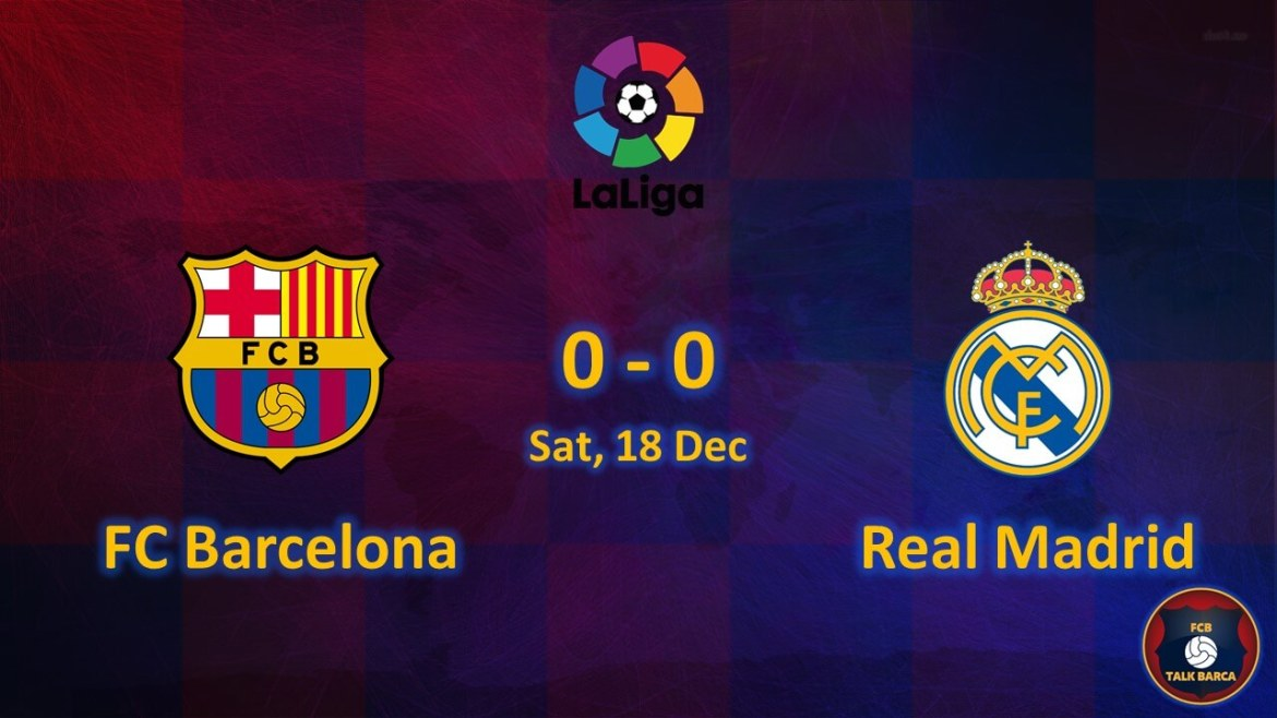 FC Barcelona vs Real Madrid December Review - Season 2019-20